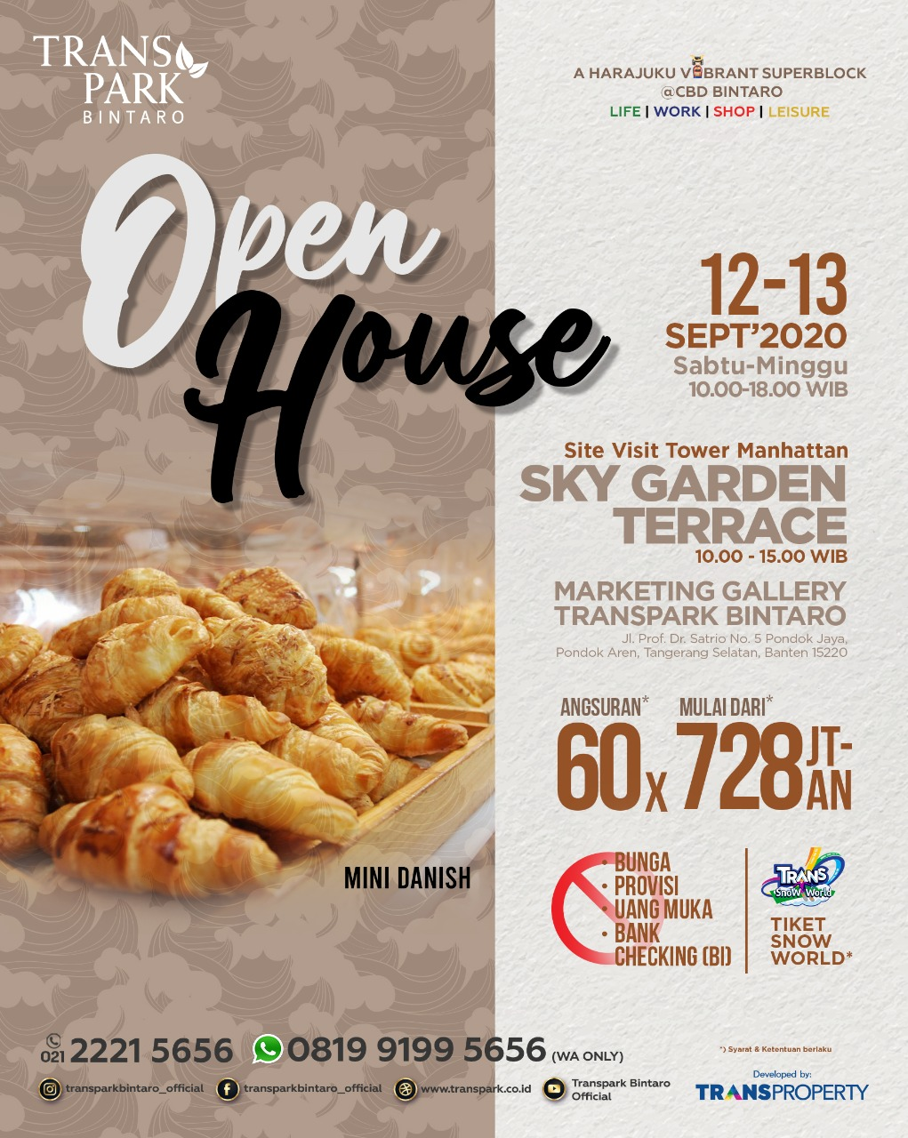 Open House Transpark Bintaro 12 13 September 2020