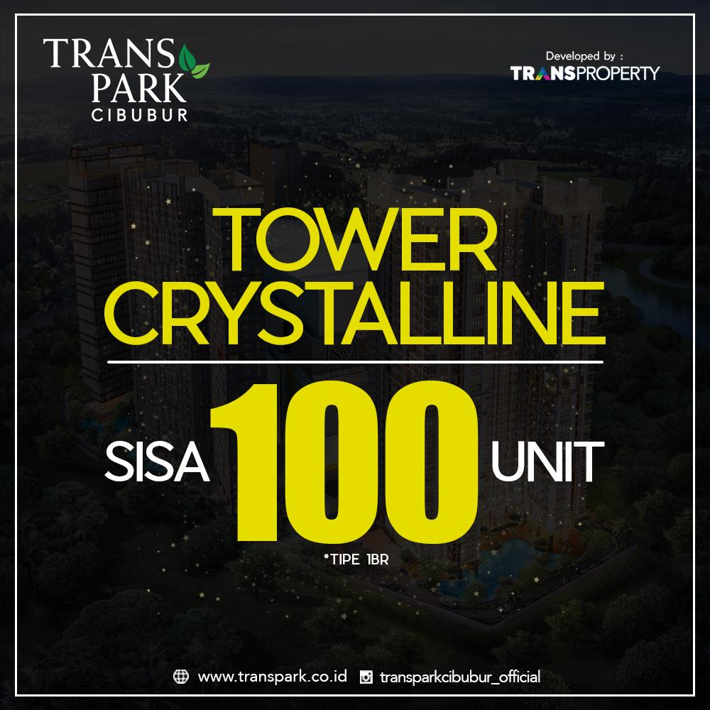 Tower Crystalline Tinggal 100 Unit