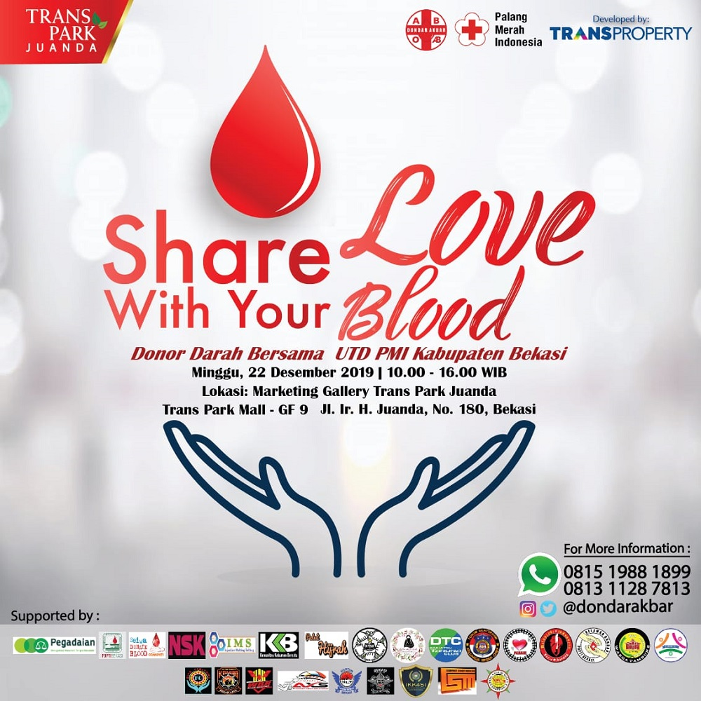 Share Love with Your Blood Transpark Juanda