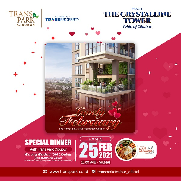 Special Dinner with Transpark Cibubur on 25 Februari 2021 at Warung Wardani TSM Cibubur