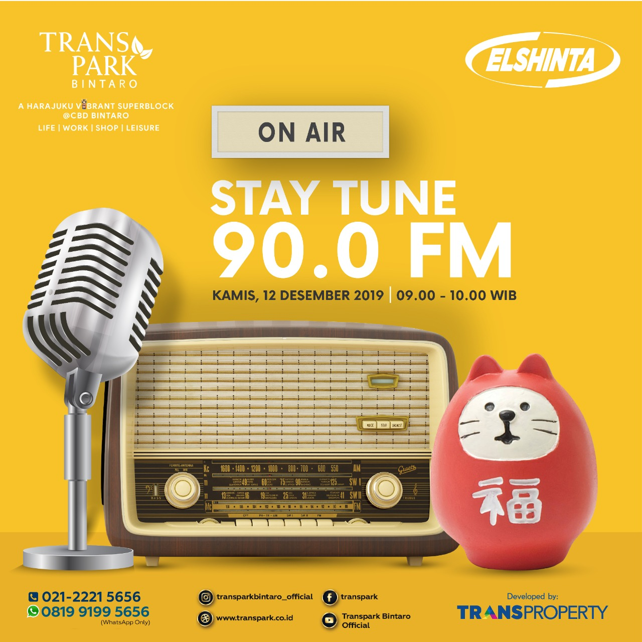 Stay Tune On Air At Elshinta 90.0 FM 12 Desember 2019