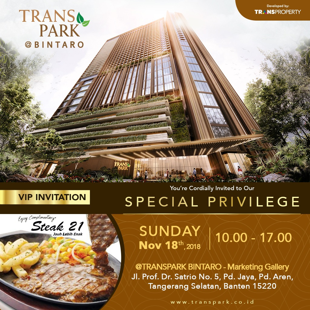 OPEN HOUSE TRANSPARK BINTARO