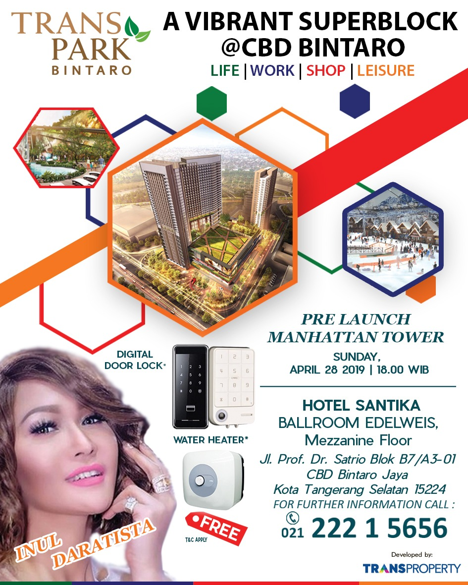*PRE LAUNCH TOWER MANHATTAN TRANS PARK @CBD BINTARO*